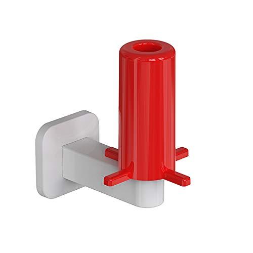 Portarrollos de papel higiénico, soporte de pared para papel higiénico, sin taladrar, papel higiénico, para cocina, baño (blanco y rojo)