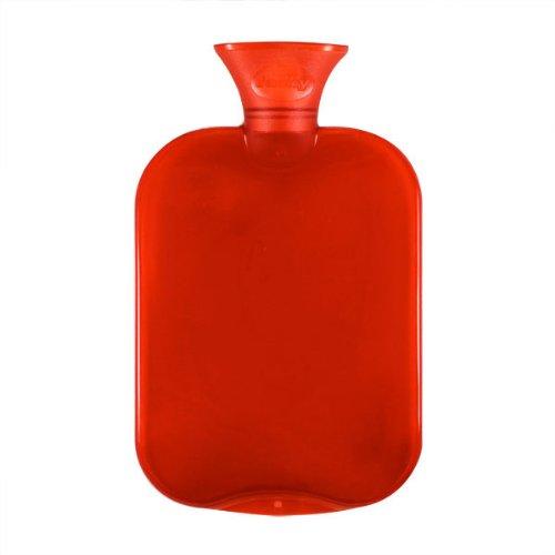 Fashy 6443 - Bolsa de agua caliente transparente, 2 L