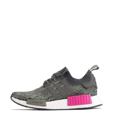 Adidas Originals NMD_R1 PK Hombres Running Sneakers Turnschuhe Prime Knit (UK 10.5 US 11 EU 45 1/3, Utility Green Pink BZ0222)