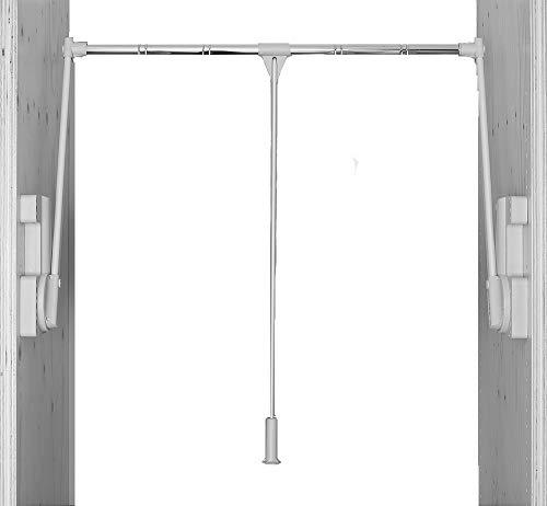 Ronin Furniture Fittings® Kleiderlift Gardarobenlift 700 Tragkraft 15kg lichtgrau für Breiten 750-1150 mm