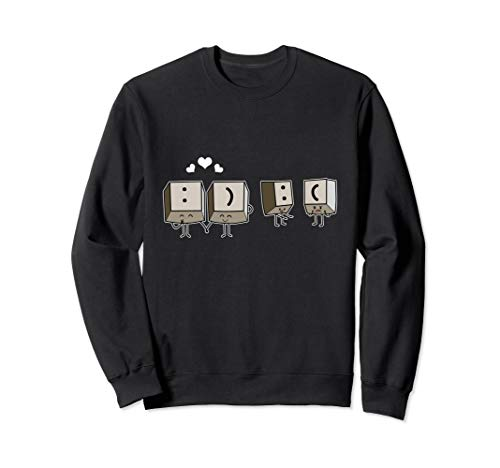 Lustiges Keyboard Programmierer Shortcut Tastatur Smiley Sweatshirt