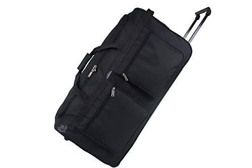 Lightweight Luggage Wheeled Trolley Holdall Suitcase Duffle Bag Cargo Travel Bag (XLarge 34(H86xW44xD40 cm))