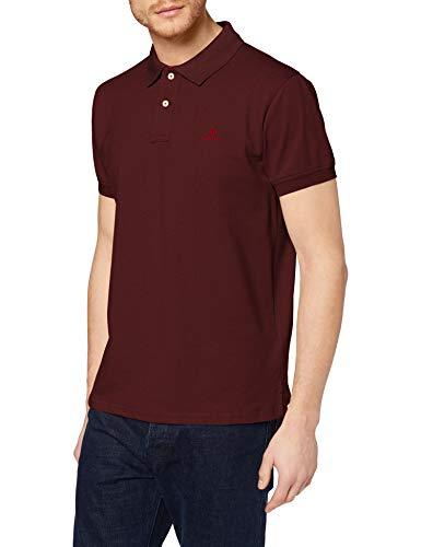 GANT Contrast Collar Pique SS Rugger Camisa de Polo, DK. Mel Burdeos, XS para Hombre