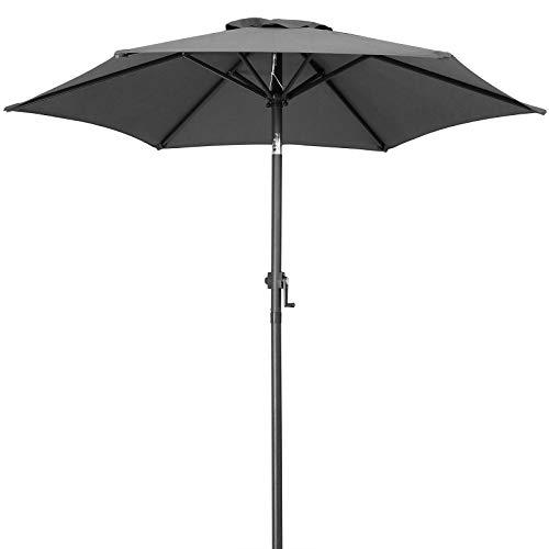 Kingsleeve Sonnenschirm Balkon UV Schutz 50+ Anthrazit 200cm Knickbar Neigbar Wasserabweisend Balkonschirm Gartenschirm