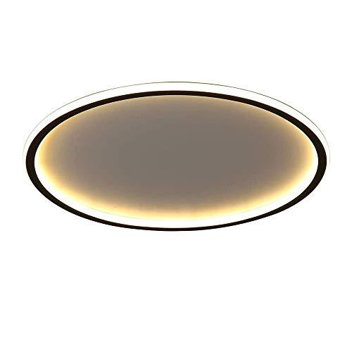 36W 2880lm Plafoniera in Acrilico Lampada da Salotto Rotonda in Metallo LED Design Moderno Lampada da soffitto lampadario Sala da Pranzo Camera da Letto plafoniere Interna,50cm,Dimmable (3000K~6500K)