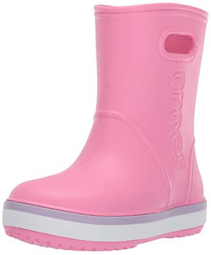 Crocs Crocband Rain Boot Kids, Botas de Agua Unisex Niños, Rosa (Pink Lemonade/Lavender 6qm), 29/30 EU