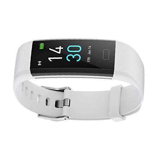 YepYes Inteligente Reloj Pulsera rastreador de Ejercicios S5 Temperatura Actividad del sueño del Ritmo cardíaco Impermeable para Las Mujeres de los Hombres Blancos