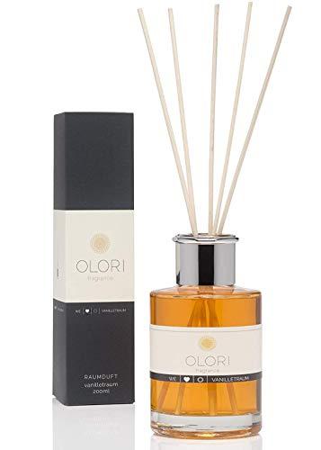 OLORI Reed Raumduft - Vanilletraum - 200 ml - verschiedene Sorten - natürlich, langanhaltend, weich, sinnlich, pudrig, süß