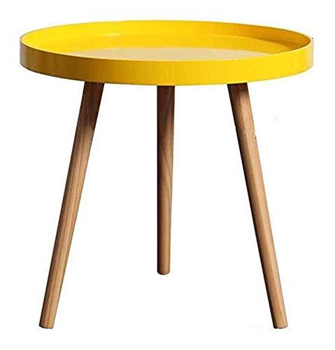 N/Z Living Equipment Beistelltische Kleiner Couchtisch Massivholz Moderner minimalistischer quadratischer Seiteneckschrank Sofa Beistelltisch Kleiner Hocker (Farbe: Schwarz Größe: Groß)