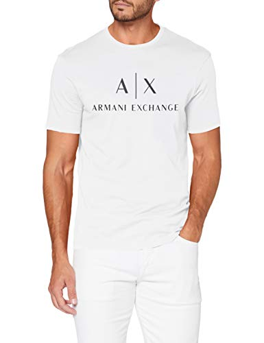 Armani Exchange 8nztcj Camiseta, Blanco (White 1100), XL para Hombre