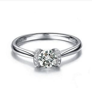 JIUXIAO Laboratorio de Compromiso Anillo de Diamantes Regalo Nupcial Joyas de Platino