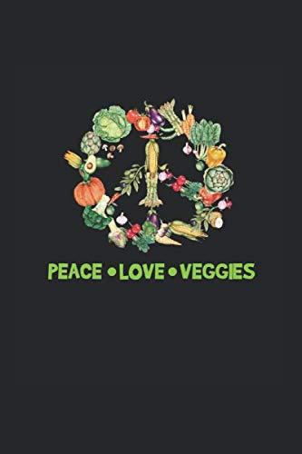 Diabetes Log Book: Vegetarian Vegan Vegetable Peace Funny Gift 120 Pages, 59 Weeks, 6X9 Inches, Blood Sugar & Hypertension Journal