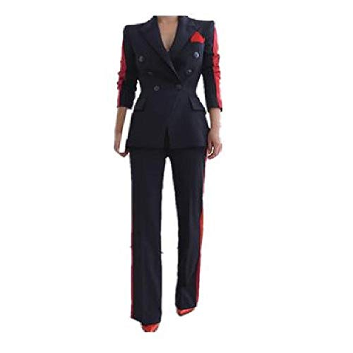 SKJJKT Damen Temperament Mode Wildanzug Slim Hose Bequem Dicke Warm Trend Outdoor Büro Hose Anzug Gr. Medium, Fotofarbe