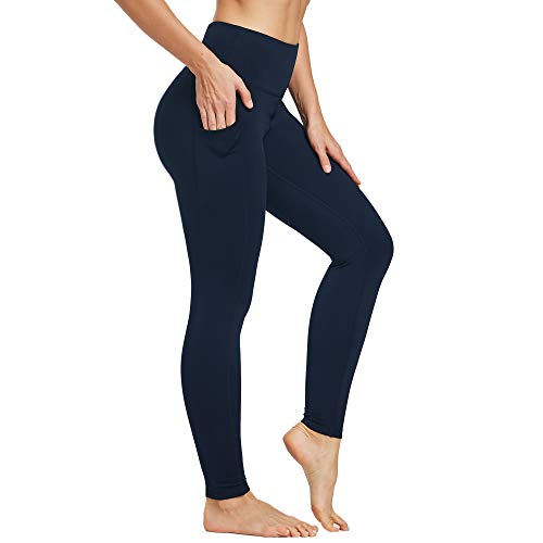Ogeenier Damen Thermo Leggings Sporthose Trainingshose Yogahose High Waist Leggings mit Handytasche