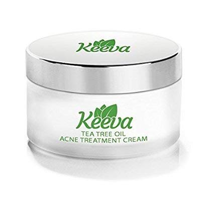 Keeva Organics Acne Treatment Cream With Secret TEA TREE OIL Formula - Perfect For Acne Scar...