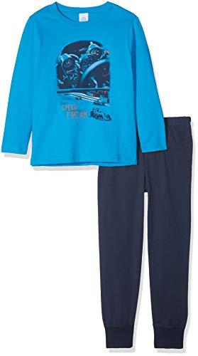 Sanetta Jungen Pyjama Long Zweiteiliger Schlafanzug, Blau (Glacier Blue 5879.0), 104
