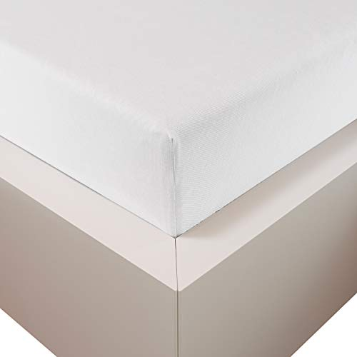 Traumschloss Edel-Jersey Spannbetttuch Premium Plus | Weiß | Mako Baumwolle mit Lyocell & Elasthan | Bettlaken wärmt im Winter & kühlt im Sommer | hautsympatisch | 180-200 cm x 200-220 cm