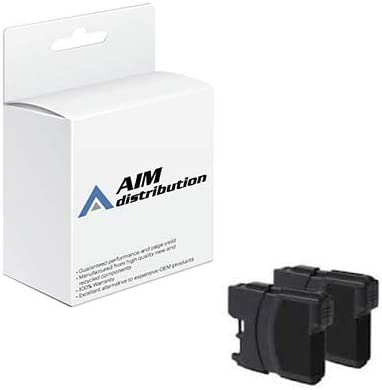 AIM Compatible Replacement for Brother LC-1012PKS Black Inkjet (2/PK-600 Page Yield) - Generic