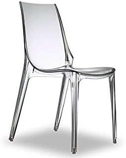 Scab Vanity Chair - Silla apilable, color transparente