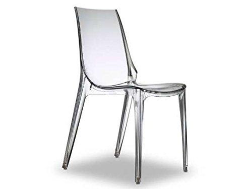 Scab - Vanity Chair Sedia impilabile, Colore: Trasparente