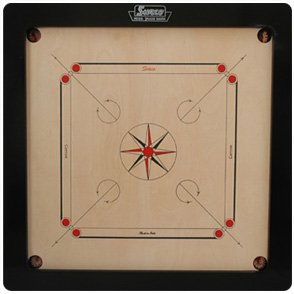 Surco Prime Carrom Board with Coins and Striker, 12mm