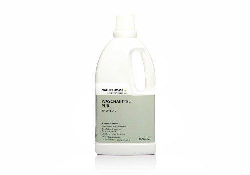 NATUREHOME Bio-Waschmittel PUR I flüssig ideal für Weiß- & Buntwäsche I VEGAN I Color-Waschmittel ohne Duftstoffe für Allergiker & Menschen mit empfindlicher Haut I 2,0L