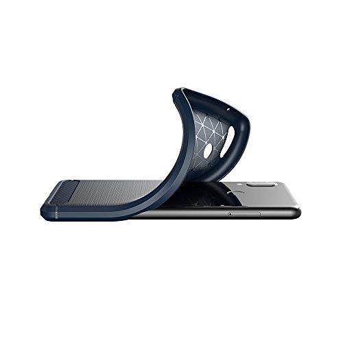 Elekin Hülle Kompatibel für Huawei P20 Lite, Handyhülle Kompatibel für P20 Lite Case Cover - Blau - 6
