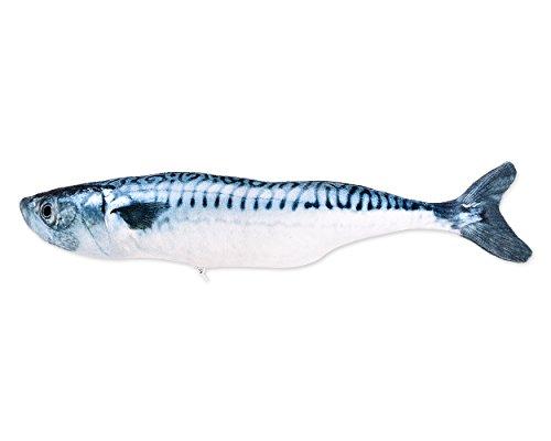 ds. distinctive style Jouet interactif à l'herbe à chat en forme de poisson - Jouet à mâcher pour animal domestique - Maquereau