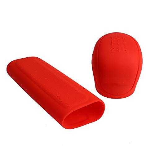 Everrich car hand brake cover -2Pcs silicone shift knob cover car handbrake cover - car automatic non-slip soft silicone…