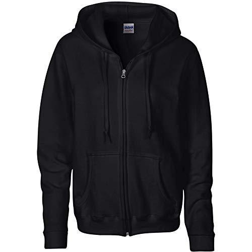 Gildan Heavy Blend Damen Sweatshirt mit Kapuze XL,Schwarz