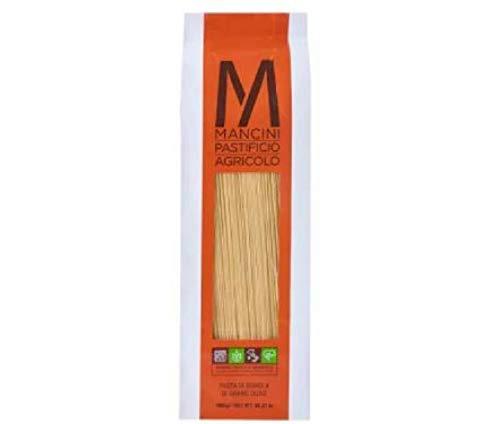 Mancini Capellini 1kg - Toller Geschmack mit einem Duft von echtem Weizen und die Nudeln haben kratzige, gut definierte Rillen Capellini haben eine Länge von 260 mm und einen Durchmesser von 1,2 mm.