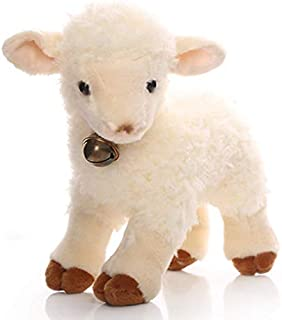 Plush toys, cute plush sheep toy high quality beige sheep doll gift about 30x25cm plush toys for kids Not afraid of squeez...