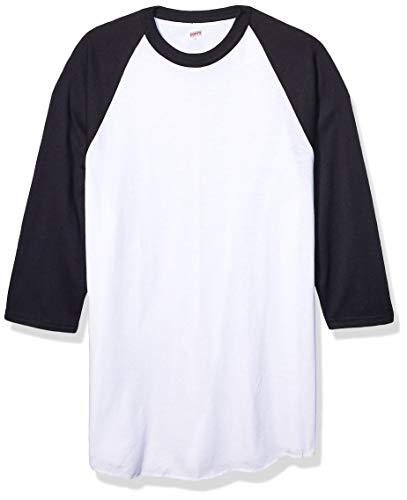Soffe womens Baseball Jersey T-shirt novelty t shirts, White/Black, X-Large US