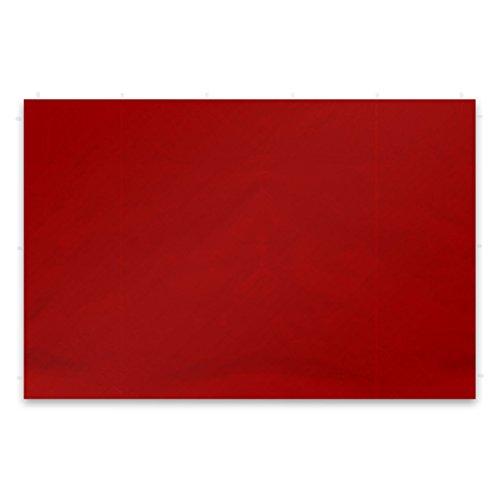 Nexos GM36242 2 Stück Seitenwände Seitenteile Ersatzwände Ohne Fenster für Falt-Pavillon – 295 x 215 cm/PE 180 g/m² – Hochwertig – Farbe: Rot