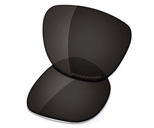 Saucer Lentes de repuesto para gafas de sol Oakley Frogskins, Negro (High Defense - Carbon Black Polarized), Talla única