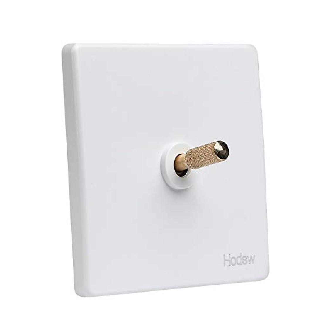 反応するみなさん満足1-4ギャングホーム改善86種類のレトロな白い壁の真鍮トグルスイッチシングルデュアルコントロールLEDライトスイッチ10A 220V (Color : 1 Gang)