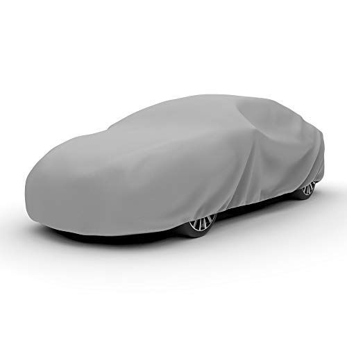 Budge D-1 Duro 3 Layer Car Cover, Water Resistant, Scratchproof, Dustproof Cover, Fits Cars up to 13'1