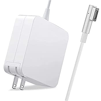 Mac Book Pro Charger Ac 60W Power Adapter Magnetic Connector with 13-inch for Mac Book Pro Before Mid 2012 Models  L-Tip & White