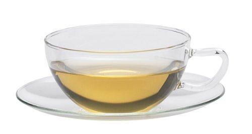 Trendglas Jena klassische Teetasse MIKO mit Glasunterteller, 0,2 Liter