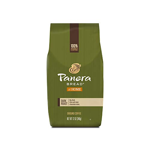 Panera Bread Dark Roast Coffee, Ground Coffee, 100% Arabica Coffee, Bagged 12 oz