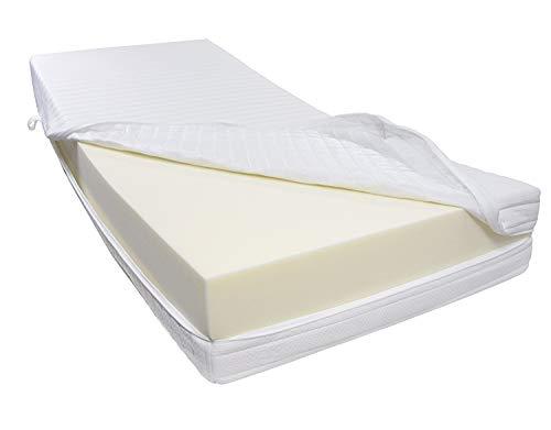 Dibapur® R 45A Colchón de espuma fría fijo hasta aprox. 190kg doble funda, Altura total aprox. 25cm