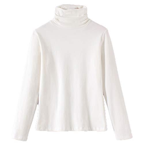 Wsgyj52hua Camiseta De Manga Larga para Mujer 2021 OtoñO E Invierno Camisa De Fondo Coreana Delgada De AlgodóN Grueso para Mujer