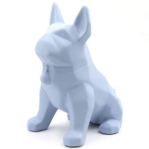 Saidan SD Figura Perrito Diseño Moderno Geométrico Creativo Regalo Decoración Hogar (Azul, Grande)