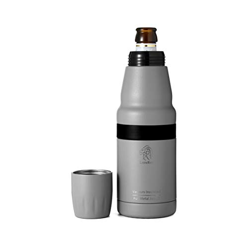 LionRox Chillax12 Beer Bottle and Can Insulator Cooler Is Fully Stainless Steel Double Walled Vacuum Insulated Keeping Your Beer Chilled For Up To 6 Hours