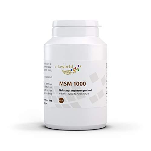 Vita World MSM 1000 mg 120 Tabletten Apotheker-Herstellung