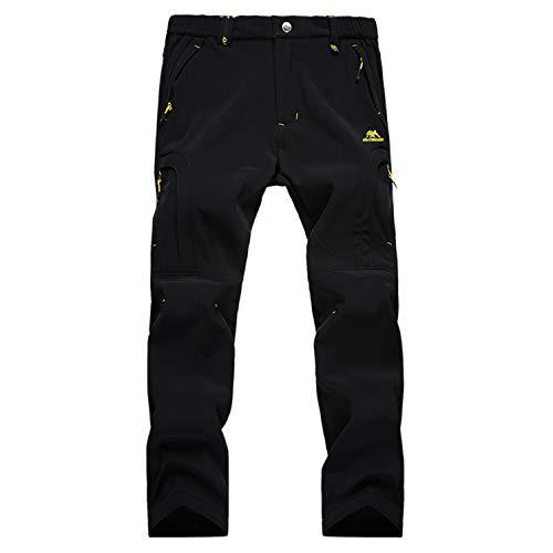 LUI SUI Pantalones para Caminar al Aire Libre con Forro Polar Softshell para Hombre,...