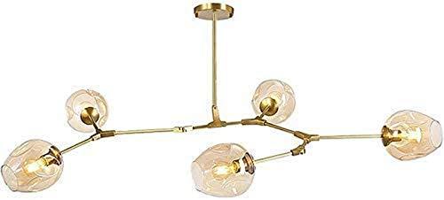 GOHHK Lámparas Colgantes, araña Cristal Sputnik Vintage E27 Pantalla lámpara Colgante soplada a Mano Moderna Lámpara Colgante Gota Ajustable Dormitorio Restaurante Sala Estar