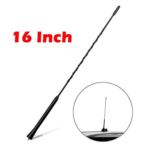 "Price comparison product image KSaAuto Antenna for Nissan - 16"" Long Antenna AM / FM Flexible Rubber Antenna Rear Top Mast Replacement"