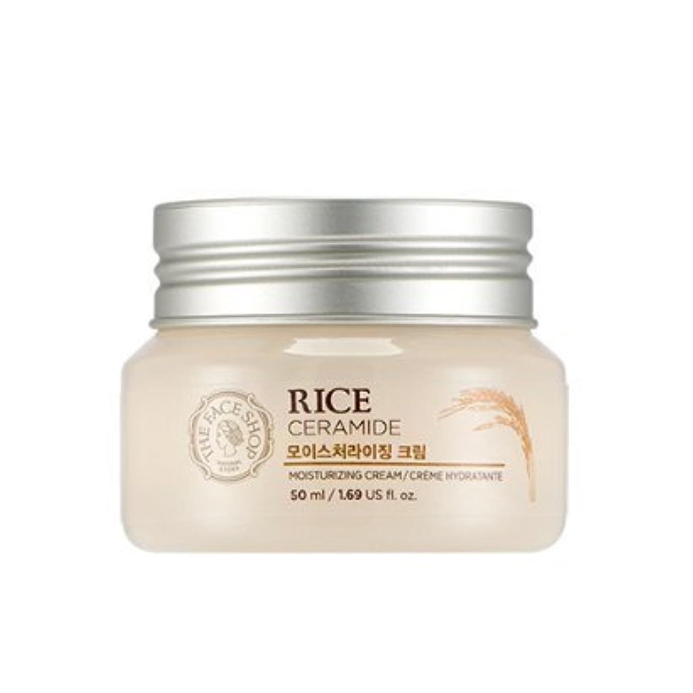 残高ブラシ印刷するTHE FACE SHOP Rice & Ceramide Moisturizing Cream ザフェイスショップ ライス&セラミドモイスチャーライジングクリーム [並行輸入品]