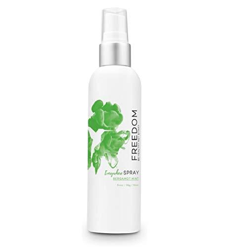 Freedom Natural Deodorant Spray - Baking Soda Free, Aluminum Free, Non Toxic, Great for Sensitive Skin for Women & Men, EWG Verified, Cruelty Free, Bergamot Mint, 3.4 Oz